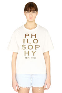 Crew-neck cotton t-shirt, T-shirts Philosophy di Lorenzo Serafini woman