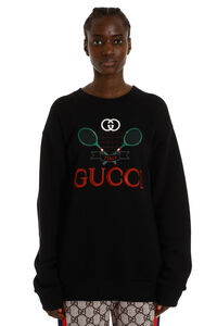 Embroidered oversize sweatshirt, Sweatshirts Gucci woman