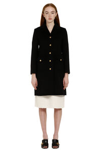 Metal buttons wool coat, Knee Lenght Coats Gucci woman