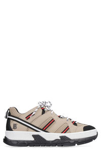 Union leather and fabric low-top sneakers, Low Top Sneakers Burberry man