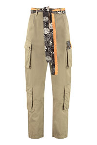 Ink Sarouel cotton cargo-trousers, Tapered pants Pinko woman