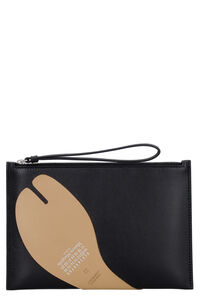 Leather flat pouch, Clutch Maison Margiela woman