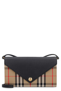 Fabric wallet on chain, Wallets Burberry woman