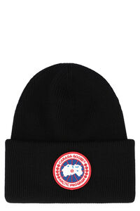 Ribbed wool beanie, Hats Canada Goose man