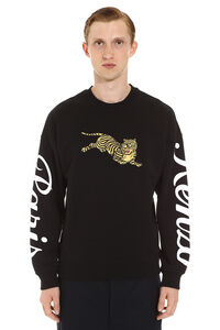 Embroidered crew-nek sweatshirt, Sweatshirts Kenzo man