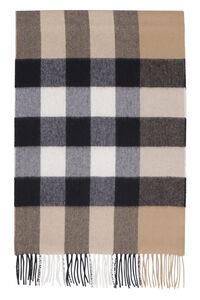 Check motif cachemire scarf, Scarves Burberry man