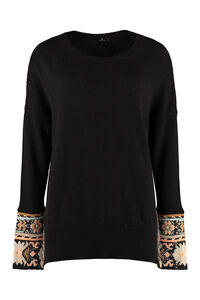 Wool-blend crew-neck sweater, Crew neck sweaters Etro woman