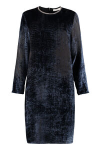 Devoré velvet dress, Knee Lenght Dresses Fabiana Filippi woman