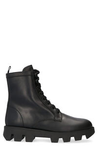 Leather combat boots, Ankle Boots Prada woman