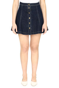 Denim mini skirt, Denim Skirts L'Autre Chose woman