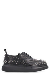 Studded leather lace-up brogues, Lace-ups Alexander McQueen woman