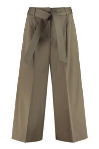 Ghisa stretch cotton culotte-pants, Cropped pants Max Mara woman