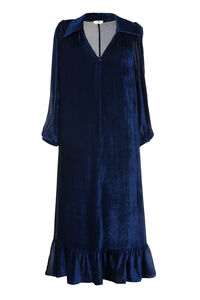 Devoré velvet dress, Maxi dresses Fendi woman