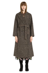 Long mixed wool coat, Double Breasted Red Valentino woman