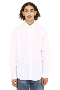 Cotton poplin shirt, Plain Shirts Fendi man