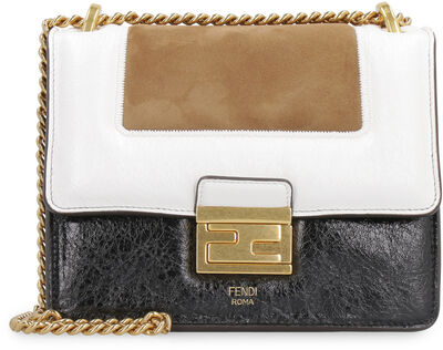 Kan U leather and suede crossbody bag