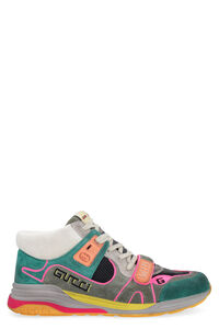 Ultrapace high-top leather and technical fabric sneakers, High Top Sneakers Gucci man