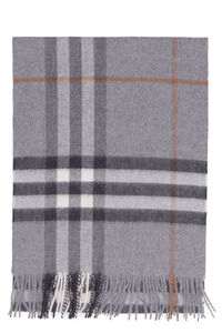 Check motif cashmere scarf, Scarves Burberry man
