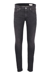 Embroidered slim fit jeans, Slim jeans Alexander McQueen man