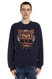 Tiger embroidered cotton sweatshirt, Sweatshirts Kenzo man