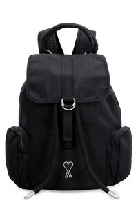 Ami de Coeur nylon backpack with patch, Backpack AMI PARIS man