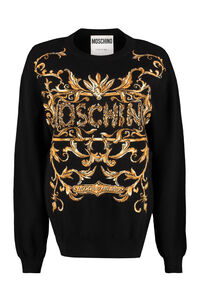 Jacquard pullover, Crew neck sweaters Moschino woman
