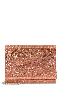 Clutch rigida Candy glitterata, Clutch Jimmy Choo woman