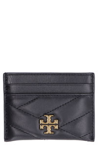 Kira logo detail leather card holder, Wallets Tory Burch woman