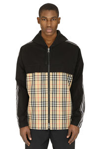 Hooded taffeta jacket, Raincoats And Windbreaker Burberry man