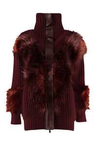 Faux fur detail cardigan, Cardigan Stella McCartney woman