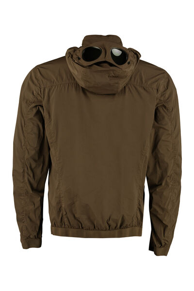 Goggle hood techno jacket
