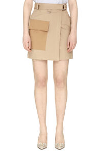 Cotton wrap skirt, Wrap skirts MSGM woman