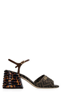 FF fabric sandal, Mid Heels sandals Fendi woman