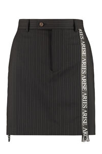 Pinstriped mini-skirt, Mini skirts Aries woman