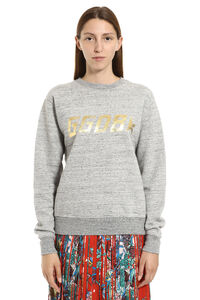 Aiako logo detail cotton sweatshirt, Sweatshirts Golden Goose woman