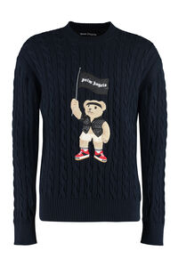 Cotton crew-neck sweater, Crew necks sweaters Palm Angels man