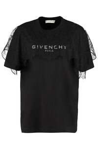 T-shirt in cotone con logo, T-shirt Givenchy woman