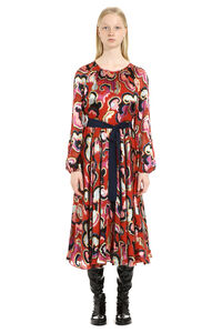 Poppy belted waist dress, Printed dresses Saloni woman