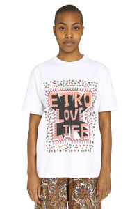 Printed cotton t-shirt, T-shirts Etro woman