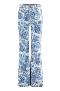 Printed boot-cut jeans, Flared Jeans Etro woman
