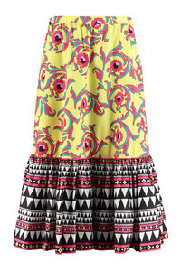 Sunset printed cotton skirt, Printed skirts La DoubleJ woman
