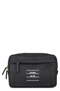 Logo print wool belt bag, Beltbag Thom Browne man