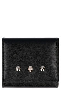Logo leather wallet, Wallets Alexander McQueen woman