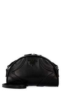 Bowling leather crossbody bag, Shoulderbag Prada woman