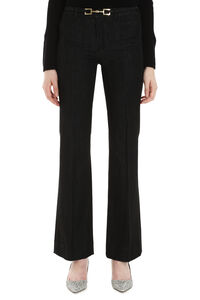Balta stretch cotton jeans, Flared Jeans S Max Mara woman