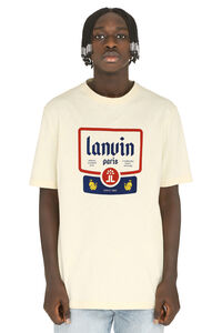 Short sleeves printed cotton T-shirt, Short sleeve t-shirts Lanvin man