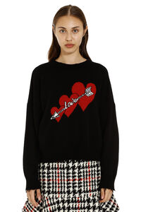 Wool crew-neck pullover, Crew neck sweaters Red Valentino woman