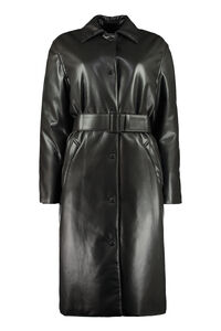 Faux leather fabric coat, Knee Lenght Coats MSGM woman