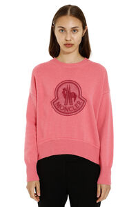 Virgin wool and cashmere pullover, Crew neck sweaters Moncler woman