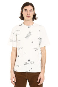 Printed cotton t-shirt, Short sleeve t-shirts Golden Goose man